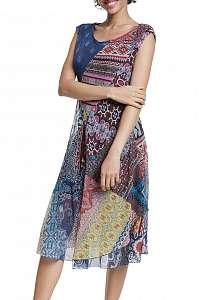 Desigual vzorované šaty Vest Monica