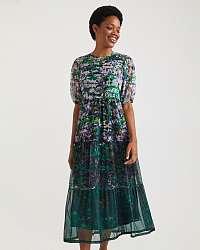Desigual zelené vzorované šaty Perugia