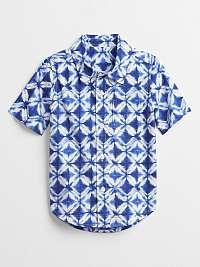 Detská košeľa poplin shirt Modrá