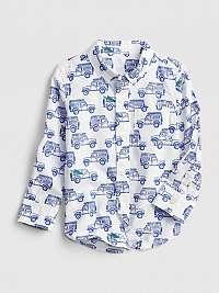 Detská košeľa print poplin shirt Farebná
