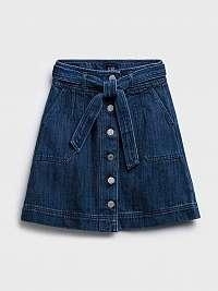Detská sukňa denim tie med skirt Modrá