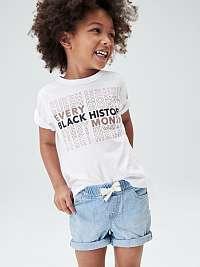 Detské džínsové kraťasy pull-on denim shorts Modrá