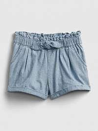 Detské kraťasy chamb utility chambray utility pull-on shorts Modrá