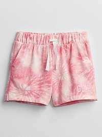 Detské kraťasy GAP Logo print pull-on shorts Ružová