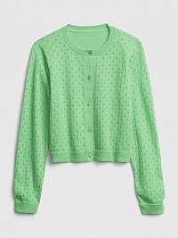 Detský sveter knit cardigan Zelená