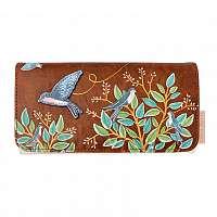 Disaster hnedé peňaženka Secret Garden Bird Wallet