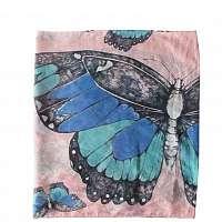 Disaster ružový šatku Into the Wild Butterfly