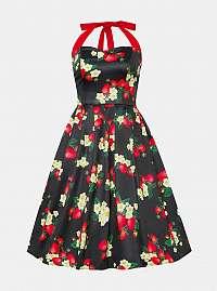 Dolly & Dotty tmavozelené šaty s jahodami