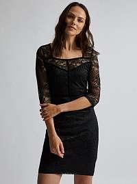 Dorothy Perkins čierne čipkované šaty