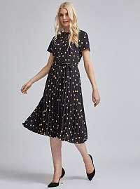 Dorothy Perkins čierne plisované šaty