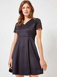 Dorothy Perkins čierne šaty s čipkou