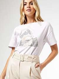 Dorothy Perkins fialové tričko s potlačou
