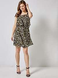 Dorothy Perkins khaki šaty so vzormi
