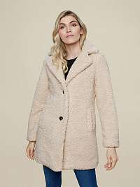Dorothy Perkins smotanové/krémové zimné kabát