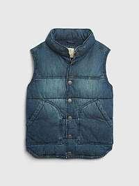 Džínsová vesta GAP Modrá