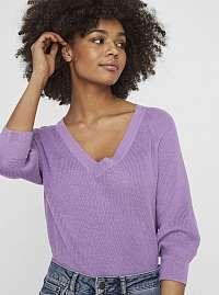 Fialový ľahký sveter VERO MODA Galex