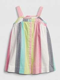 GAP Baby Stripe Button Šaty detské Viacfarebná