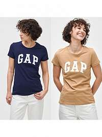 GAP béžové 2 pack tričko Logo franchise classic t-shirt
