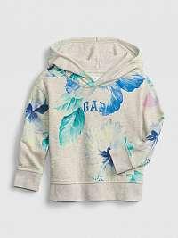 GAP béžové detská mikina Logo floral hoodie