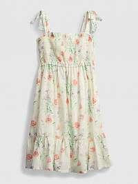 GAP béžové dievčenské šaty s květinami