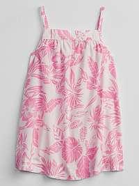 GAP biele baby šaty Floral