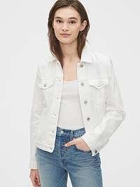 GAP biele džínsová bunda icon denim jacket