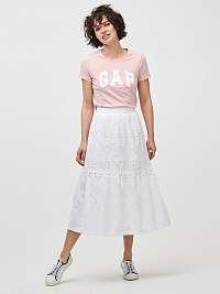 GAP biele midi sukňa