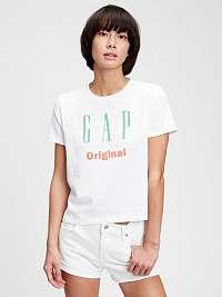 GAP biele tričko Logo Original s potlačou