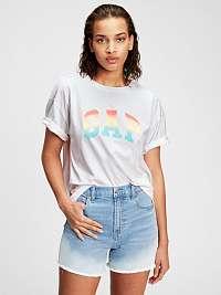 GAP biele tričko s farebným logom