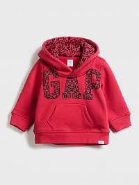 GAP červené detská mikina Baby s kapucí