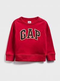 GAP červené mikina Logo fr ft crew