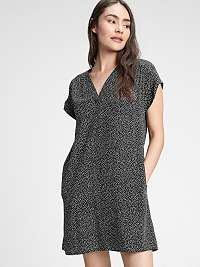 GAP čierne šaty s drobným vzorom