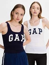 GAP čierno-biely 2 pack tielok Logo