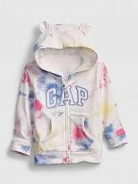 GAP farebné detská mikina Logo tie-dye hoodie
