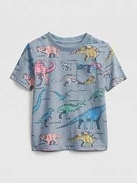 GAP farebné detské tričko s dinosaury