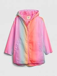 GAP farebné dievčenská bunda ombre rain jkt