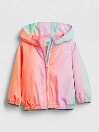 GAP farebné dievčenská bunda windbuster
