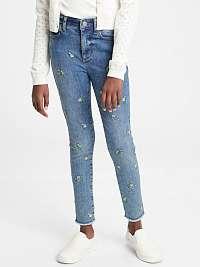 GAP farebné dievčenské džíny s výšivkami