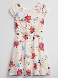 GAP farebné dievčenské šaty s květinovým motivem