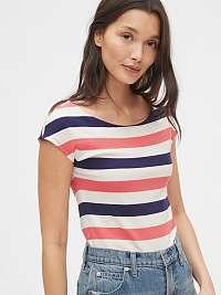 GAP farebné pruhované dámske tričko modern boatneck striped