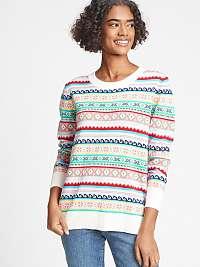 GAP farebný dámsky sveter s pestrými motívmi