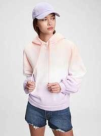 GAP fialové dámska mikina vintage soft balloon sleeve hoodie