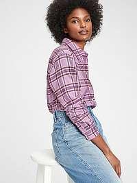 GAP fialové kockovaná dámska košeľa