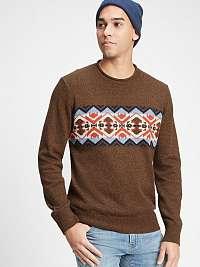 GAP hnedé pánsky sveter