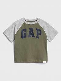 GAP khaki chlapčenské tričko