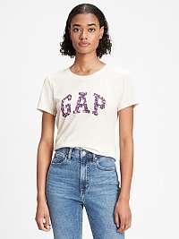 GAP krémové tričko s logom