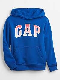 GAP modrá chlapčenská mikina Logo s kapucňou