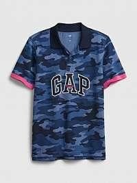 GAP modré chlapčenské tričko printed pq pol