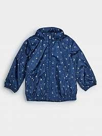 GAP modré detská bunda s kytičkami