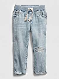 GAP modré detské džínsy na gumu